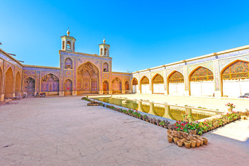 Nasir al-Mulk Mosque in Shiraz, Iran.