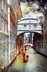 Printed kitchen splashbacks Imagination Venice dreams series