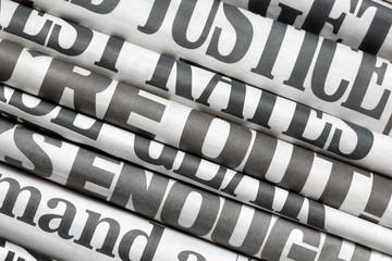 In de dag Kranten Newspaper headlines