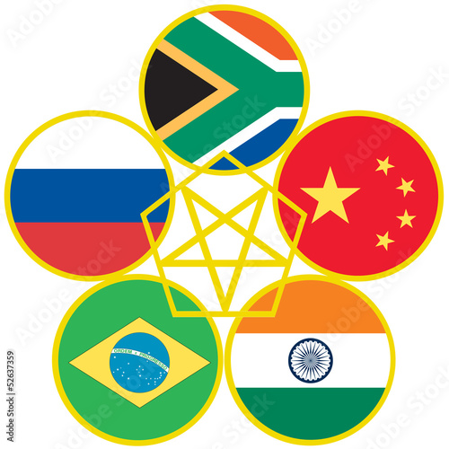 Symbol For Brics Trade Agreement Stock Image And Royalty Free