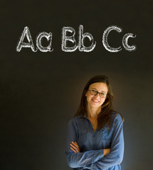 Learn alphabet write writing teacher
