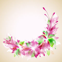 """vector template """"abstract floral wreath"""""""