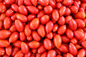 ripe tomato - food background