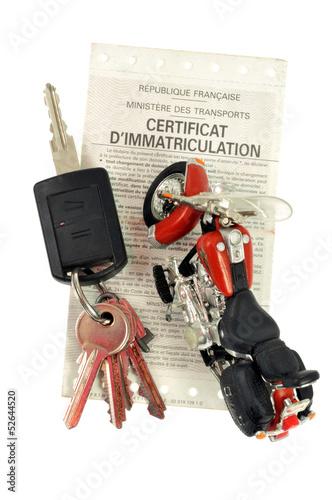 """""""Carte grise moto"""" photo libre de droits sur la banque d'images Fotolia.com - Image 52644520"""