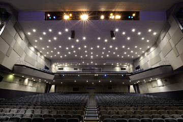 Interior of cinema auditorium.