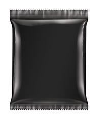Sachet bag package black