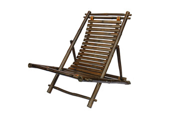 Bamboo lounge chair isolated