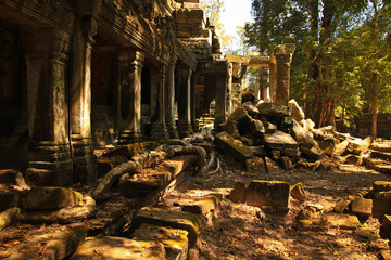 Ruins of old temple in Cambodia