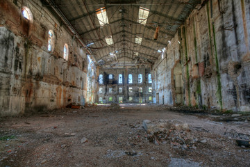 Abandoned sugar factory