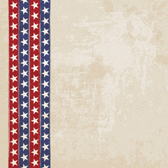 Vintage background with stripes and stars - vector illustration