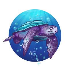 Cartoon image of a sea turtle.