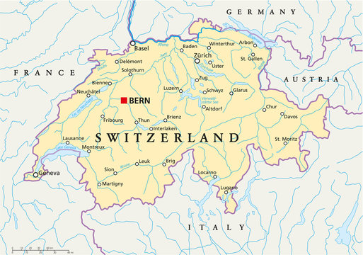 Switzerland Map ( Schweiz Landkarte )
