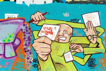 Graffiti personnage sans déconner