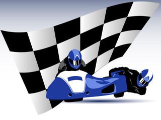 Wall Mural - Blue sidecar