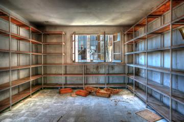 Shelves, Abandoned sugar factory
