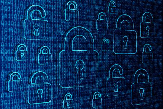 Internet et Sécurité Bleu