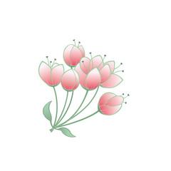 Romantischer Hintergrund mit Blüten und Knospen