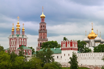 Fototapete - view on the Novodevichy Convent