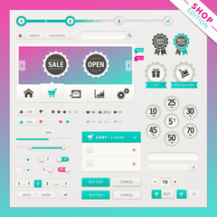 Shop edition of vector ui elements for web and mobile.