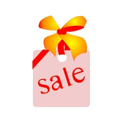 sale, pink label, vector