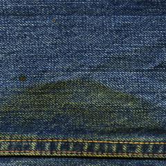 Denim Fabric Texture - with Seam & Stain