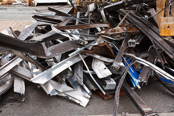 Close up of scrap metal
