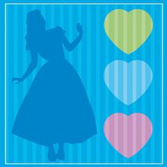 princesse,personnage,fantastique,carte,invitation,motif