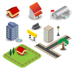 3D town object