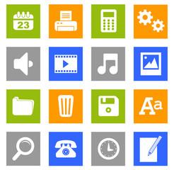 Set 1 icônes bureau basic