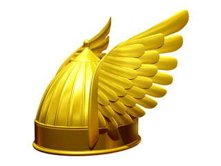 golden Winged helmet