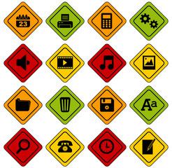 Set 1 icônes bureau basic panneaux