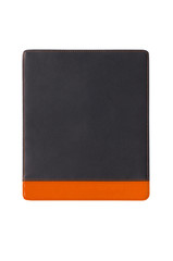 black leather mouse pad, isolated
