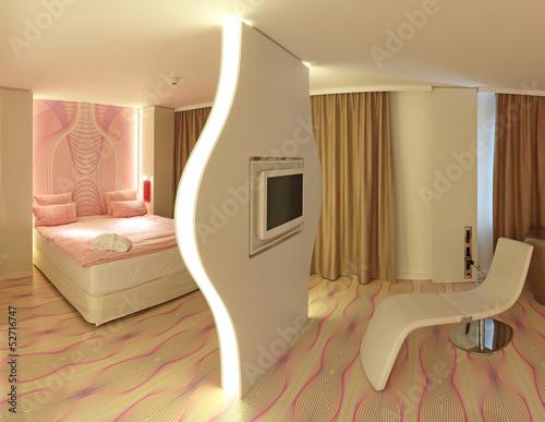 raumteiler bett und wohlf hlsessel mit fernseher stockfotos und lizenzfreie bilder auf. Black Bedroom Furniture Sets. Home Design Ideas