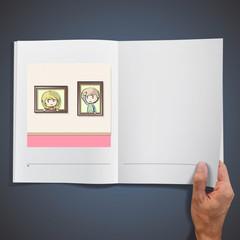 Two kids inside a frame