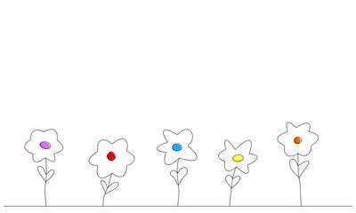 Kinderzeichnung: Blumen