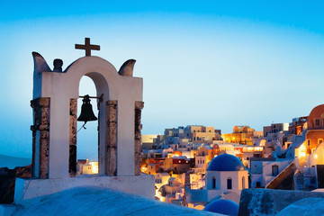 beautiful panoramic view of Santorini, Greece