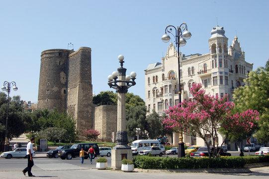 Maiden Tower in Baku, Azerbaijan