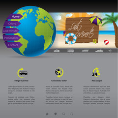Website template with last minute offer