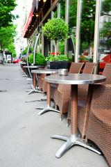 Cafe terrace in Paris