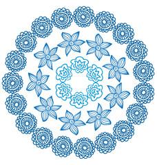 Blue round ornament
