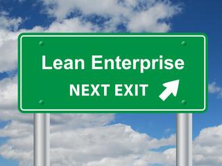 LEAN ENTERPRISE NEXT EXIT Signpost (efficiency quality strategy)