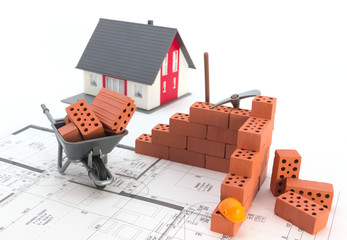Eigenheim Bauphase Konzept