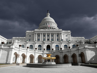 US Capitol Thunder Sky