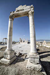 Laodikya Ancient City in Denizli, Turkey