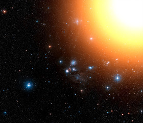 Stars and sunshine. Elements of this image furnished by NASA.