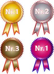 Sieger Patch Logo Sticker Icon Abzeichen