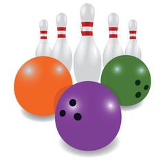 Bowling Pins and bowling balls
