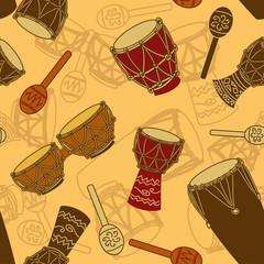 Seamless pattern of percussion