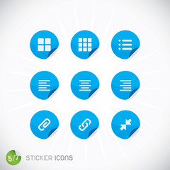 Sticker Icons, Symbols, Buttons, Sign, Emblem