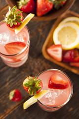 Refreshing Ice Cold Strawberry Lemonade